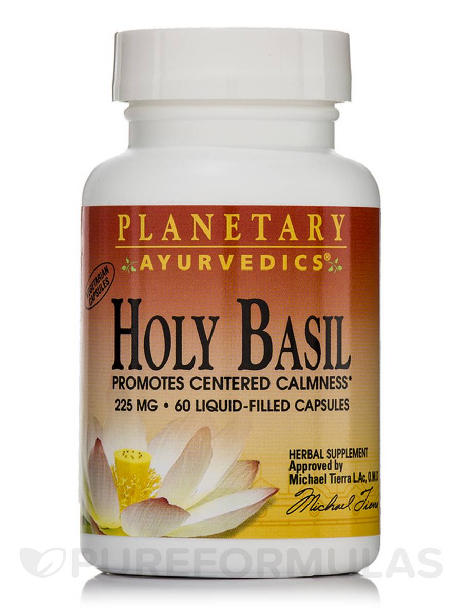 Holy Basil 225 mg - 60 Liquid-Filled Vegetarian Capsules