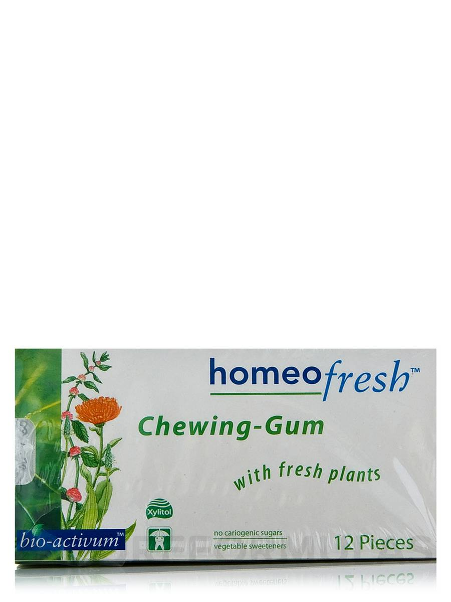 HomeoFresh™ Chewing Gum (Chlorophyll Flavor) - Package of 10 Packs (12 pieces each) (144 Grams)