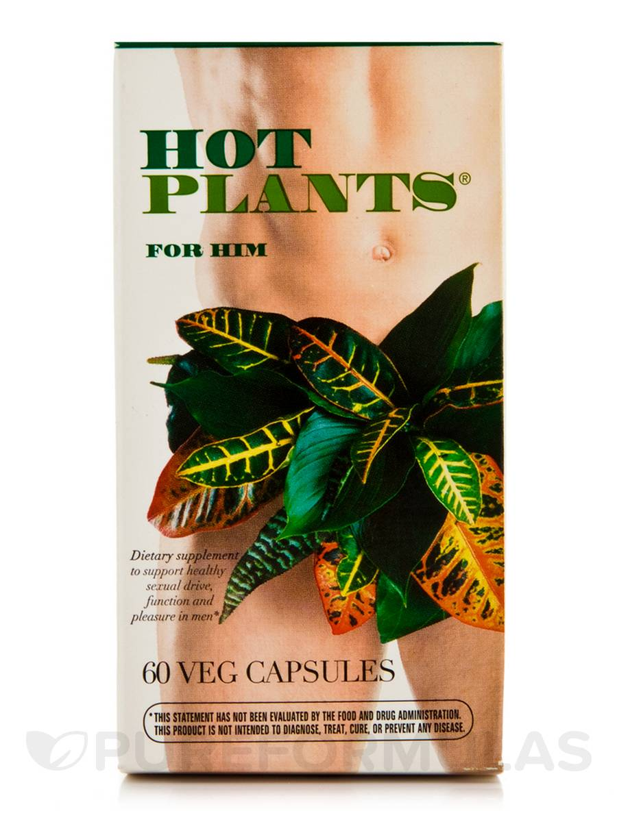 Hot Plants for Him - 60 Vegetable Capsules