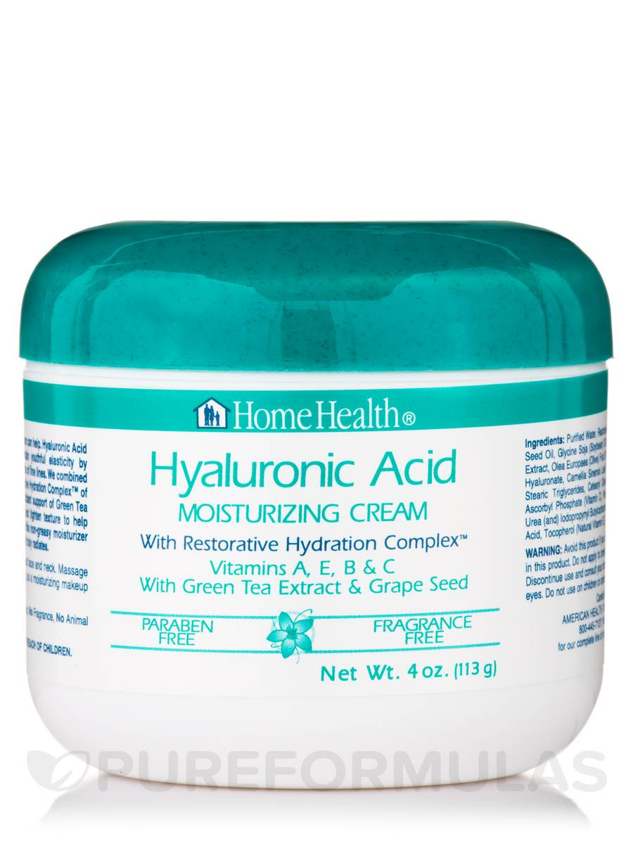Hyaluronic Acid Moisturizing Cream - 4 oz (113 Grams)