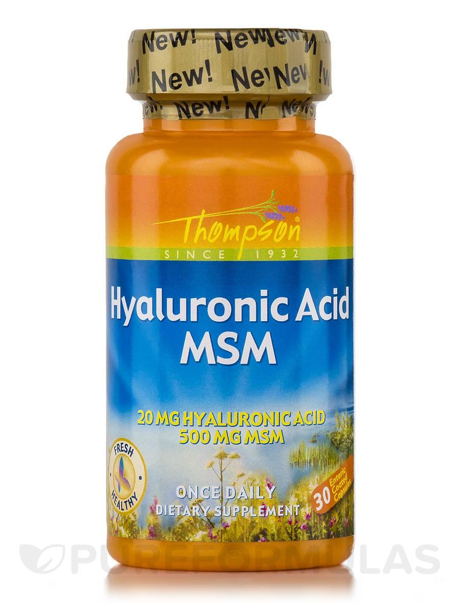 Hyaluronic Acid + MSM - 30 Capsules
