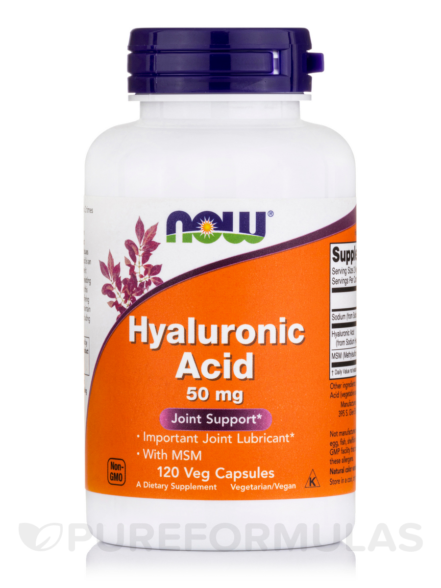 Hyaluronic Acid 50 mg - 120 Vegetarian Capsules