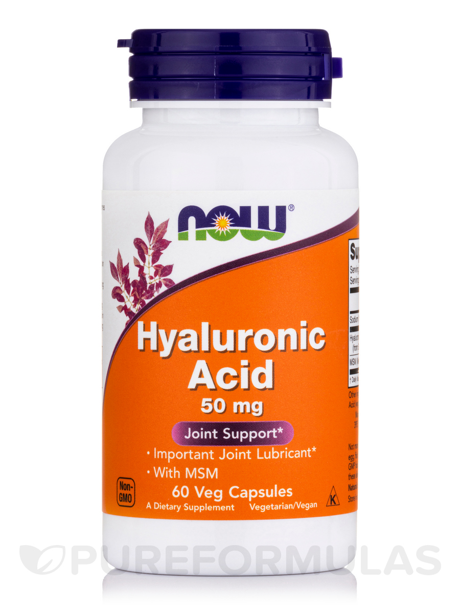 Hyaluronic Acid 50 mg - 60 Vegetarian Capsules
