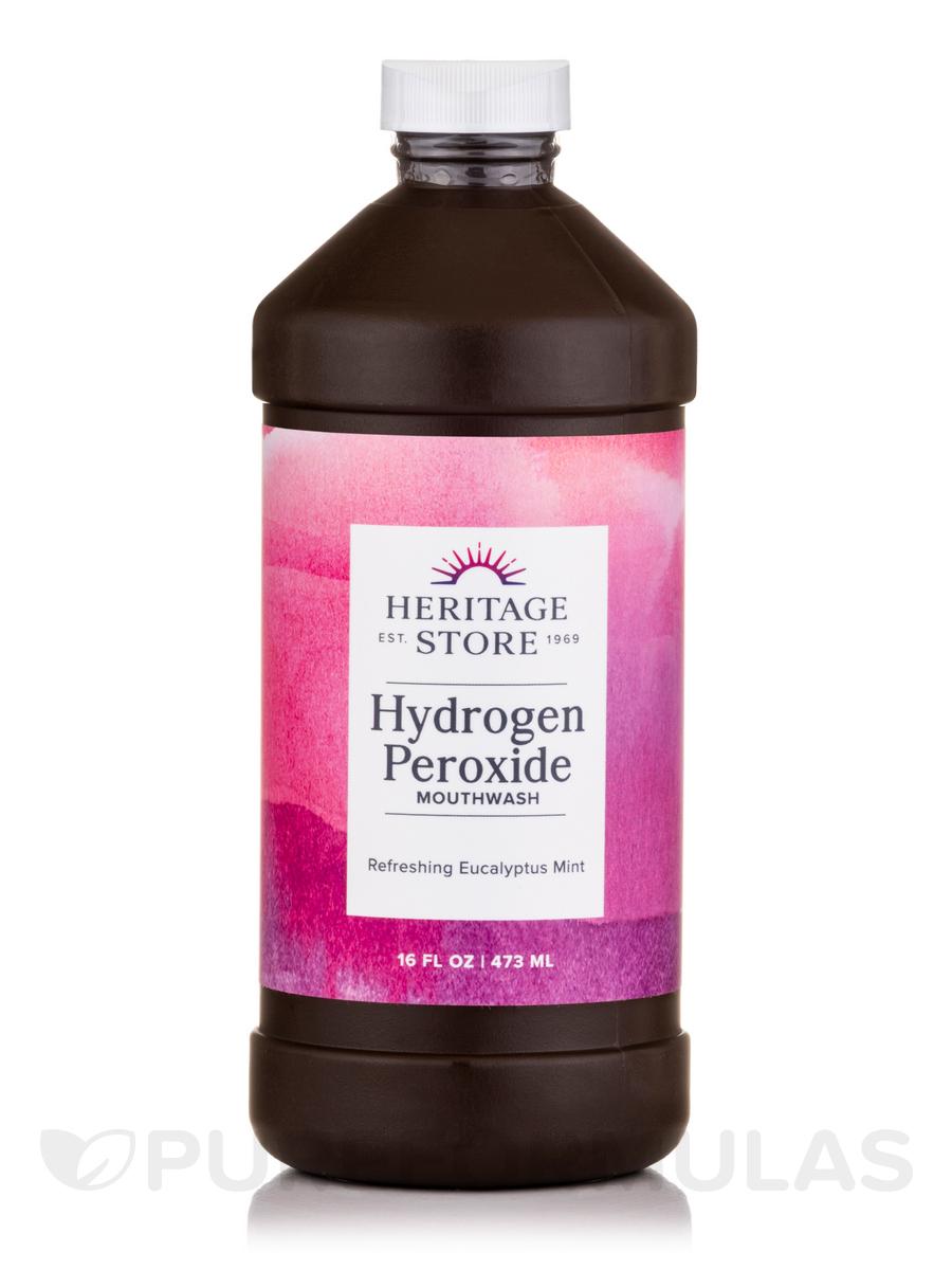 Hydrogen Peroxide Mouthwash, Original Natural Flavors - 16 fl. oz (480 ml)
