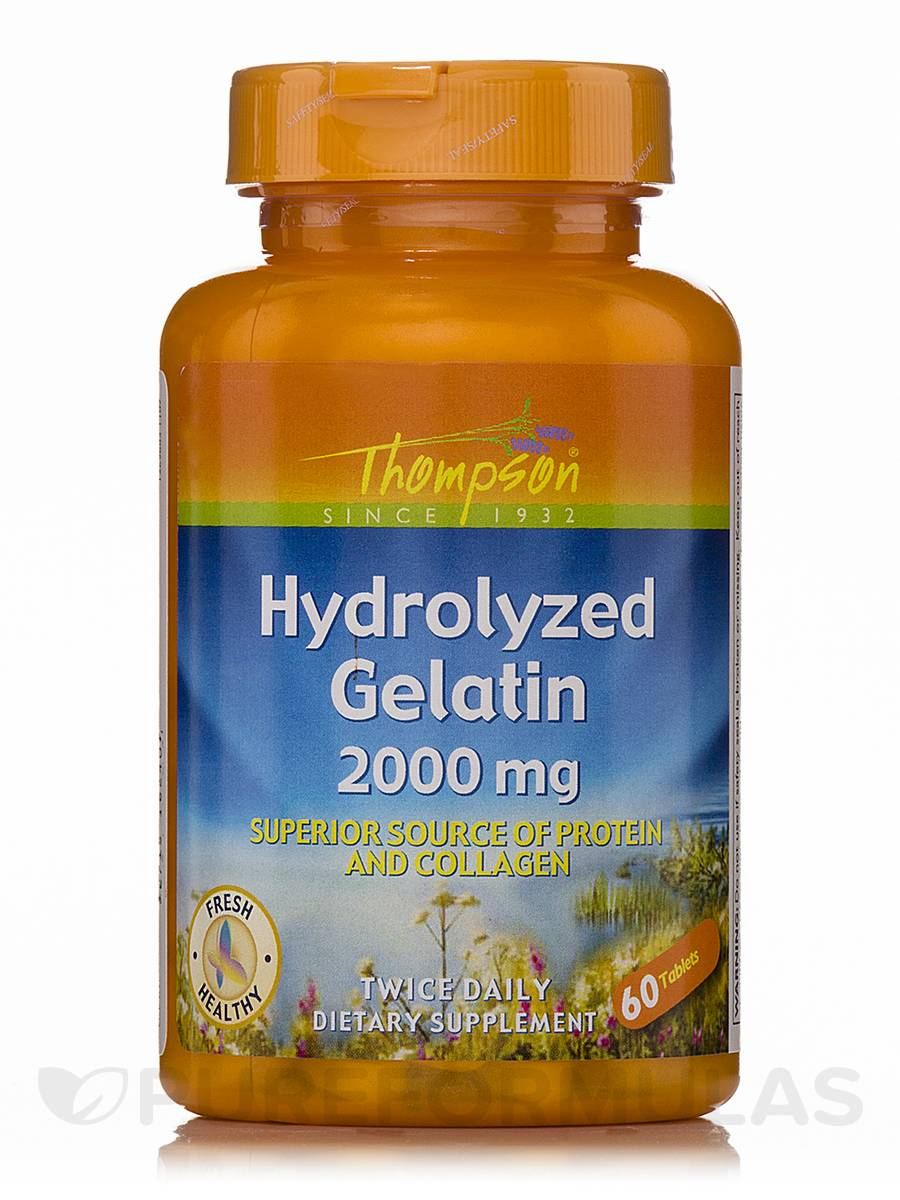 Hydrolyzed Gelatin 2000 mg - 60 Tablets