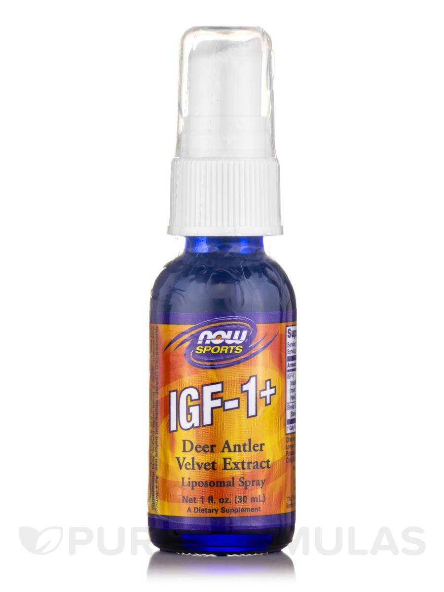 NOW® Sports - IGF-1+ Liposomal Spray, Natural Lemon Flavor - 1 fl. oz (30 ml)