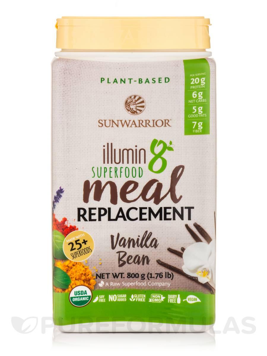 illumin8 Plant-Based Organic Meal, Vanilla Bean Flavor - 1.76 lb (800 Grams)