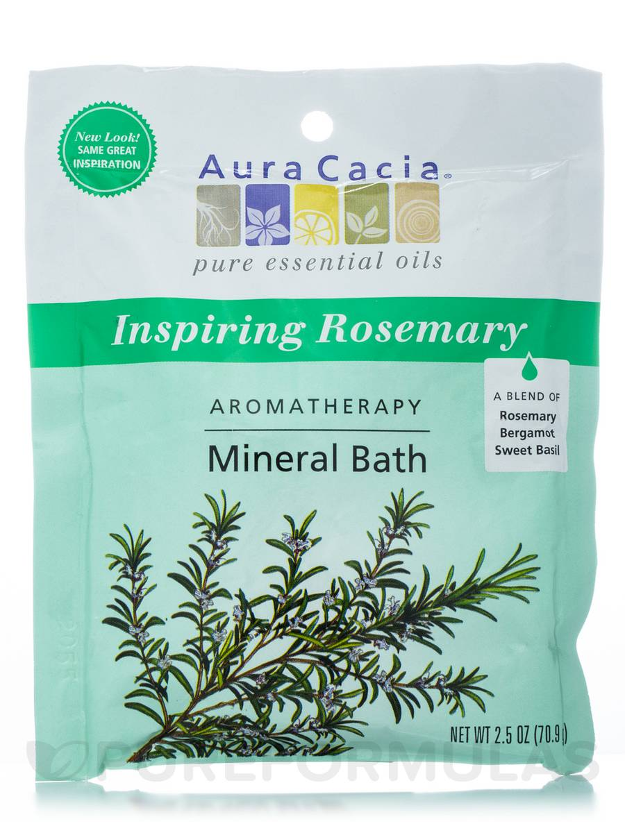 Inspiring Rosemary (Inspiration) Aromatherapy Mineral Bath - 2.5 oz (70.9 Grams)