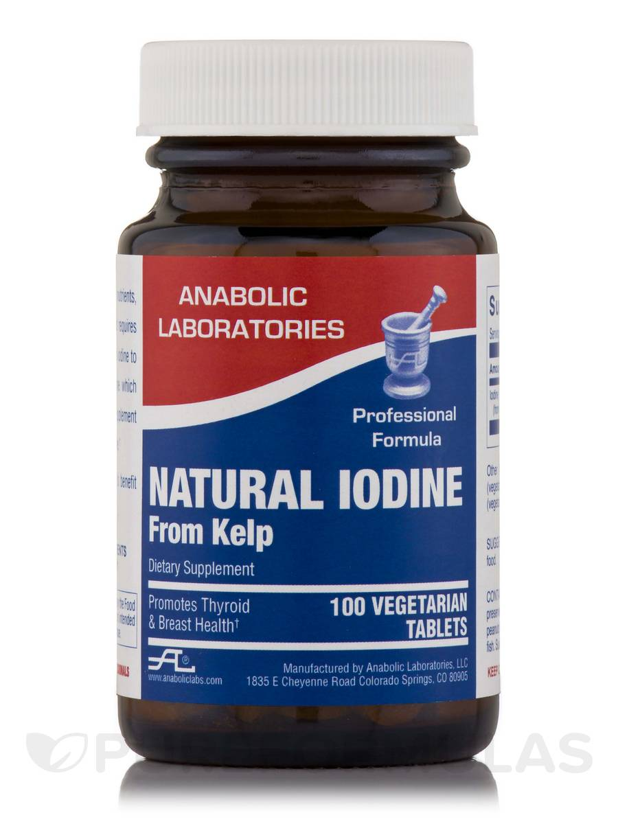 Natural Iodine from Kelp - 100 Vegetarian Tablets