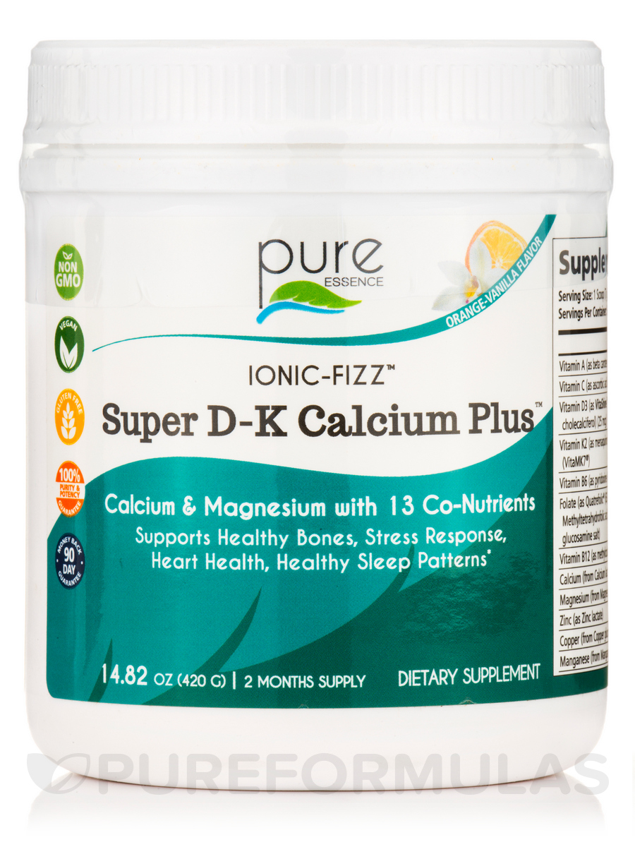 Ionic-Fizz™ Super D-K Calcium Plus - Orange-Vanilla - 14.82 oz (420 Grams)