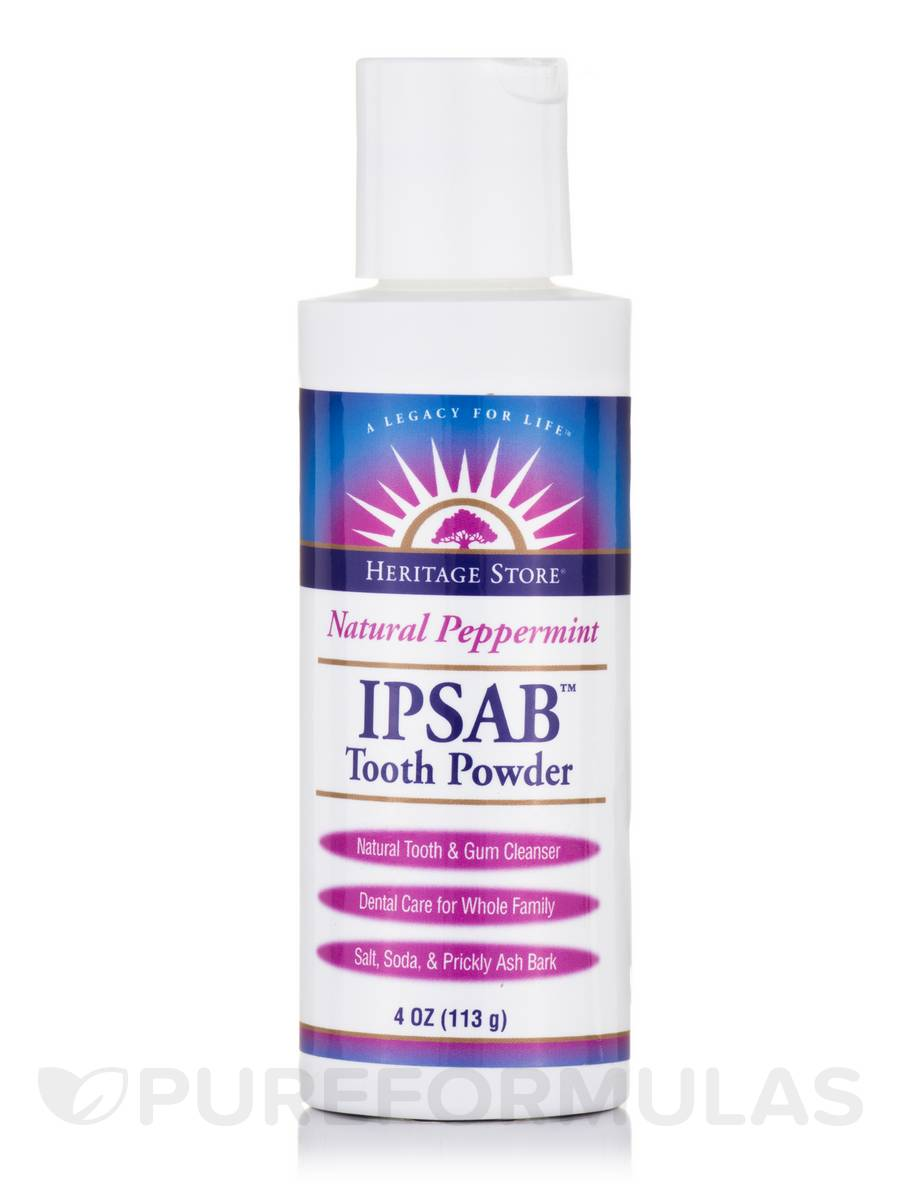 IPSAB™ Tooth Powder (Natural Peppermint) - 4 oz (113 Grams)