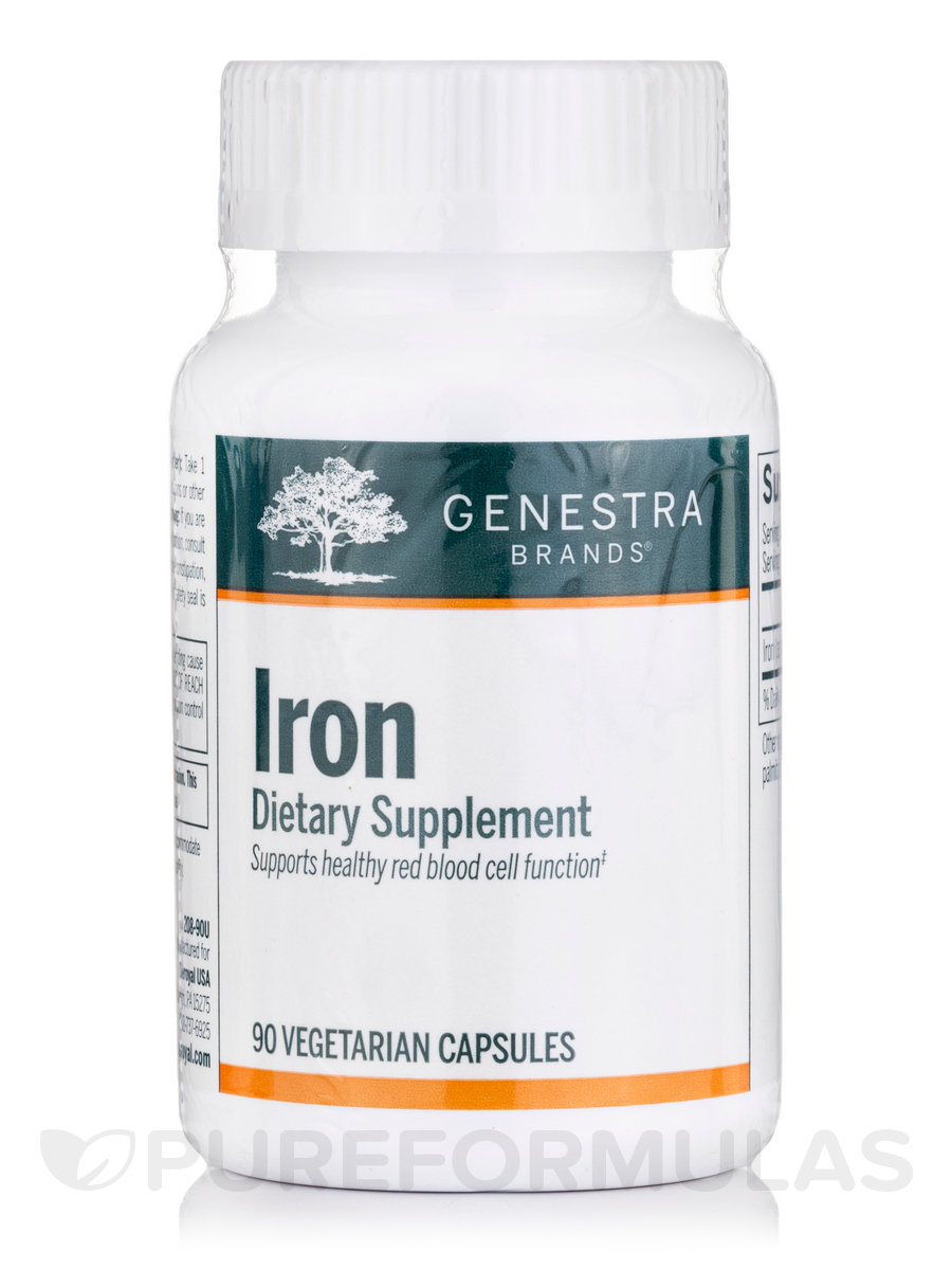 Iron - 90 Vegetable Capsules