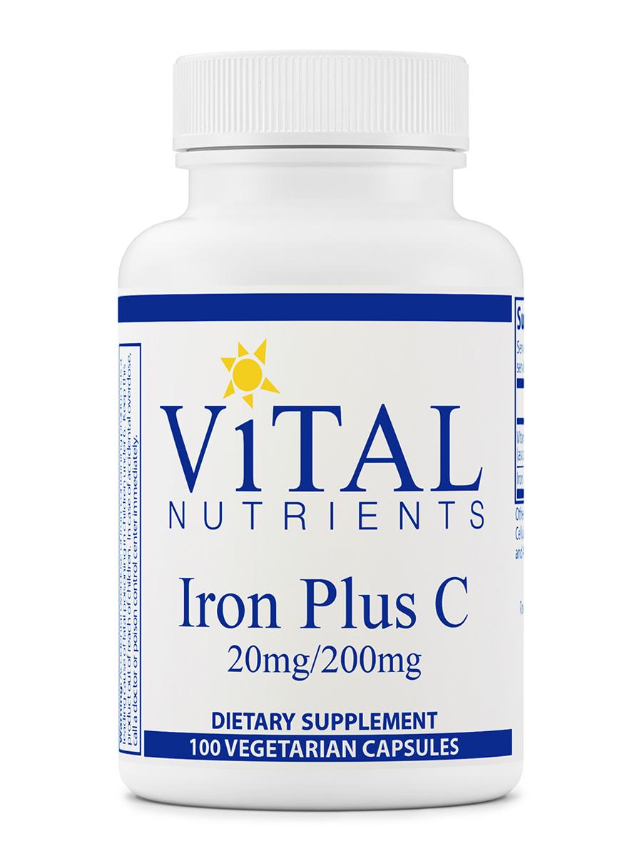 Iron Plus C (20 mg / 200 mg) - 100 Vegetarian Capsules