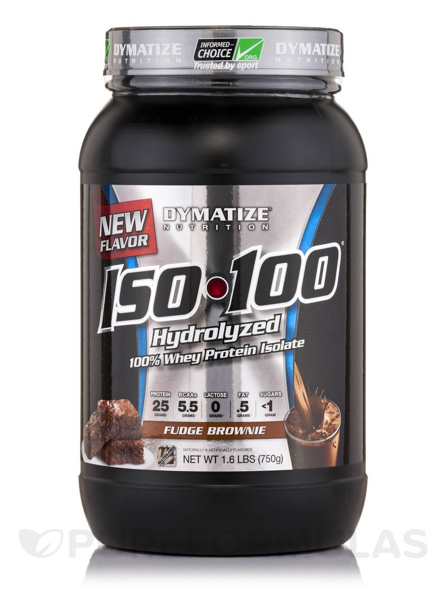 iso 100 hydrolyzed 100 whey protein isolate whey fudge brownie 1 6 lbs 750 grams. Black Bedroom Furniture Sets. Home Design Ideas
