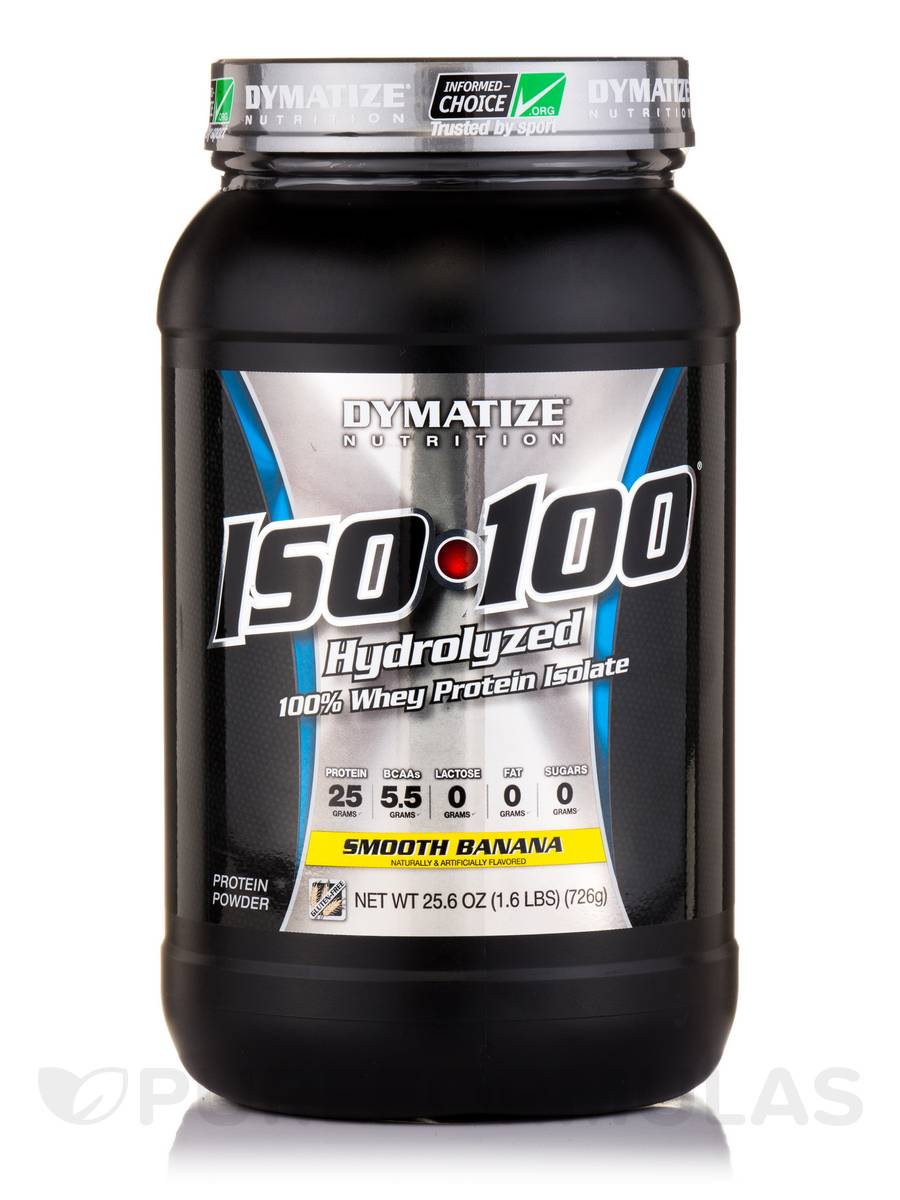 ISO-100 Hydrolyzed 100% Whey Protein Isolate, Smooth Banana - 25.6 oz (726 Grams)