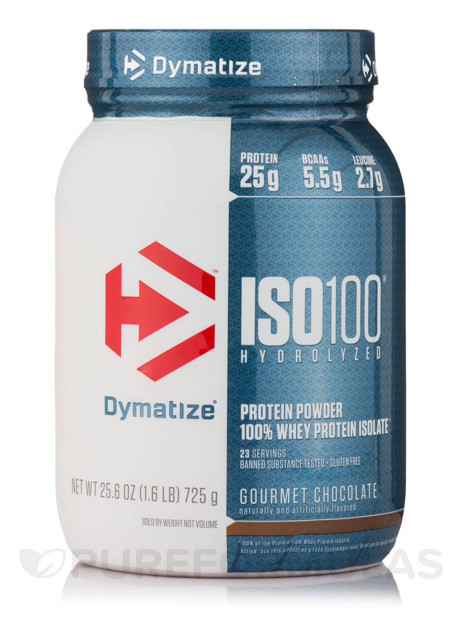 ISO-100 Hydrolyzed 100% Whey Protein Isolate, Gourmet Chocolate - 1.6 lbs (744 Grams)