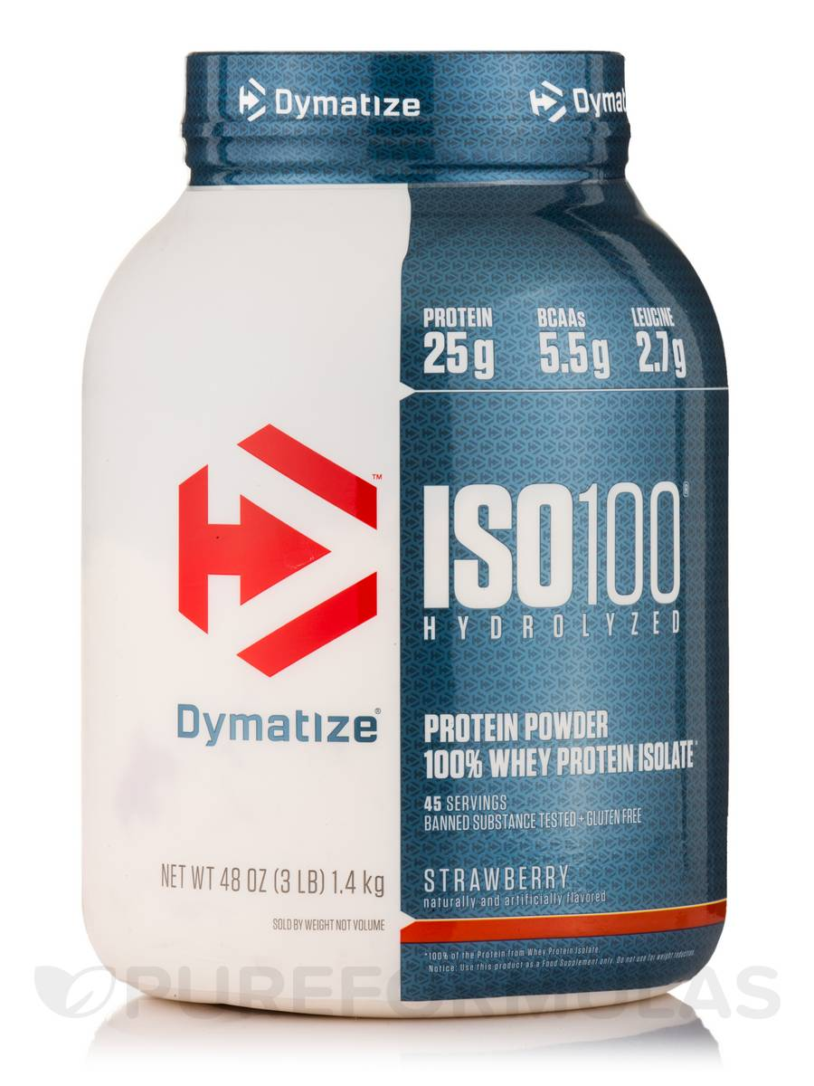 iso 100 hydrolyzed 100 whey protein isolate strawberry flavor 48 oz grams. Black Bedroom Furniture Sets. Home Design Ideas