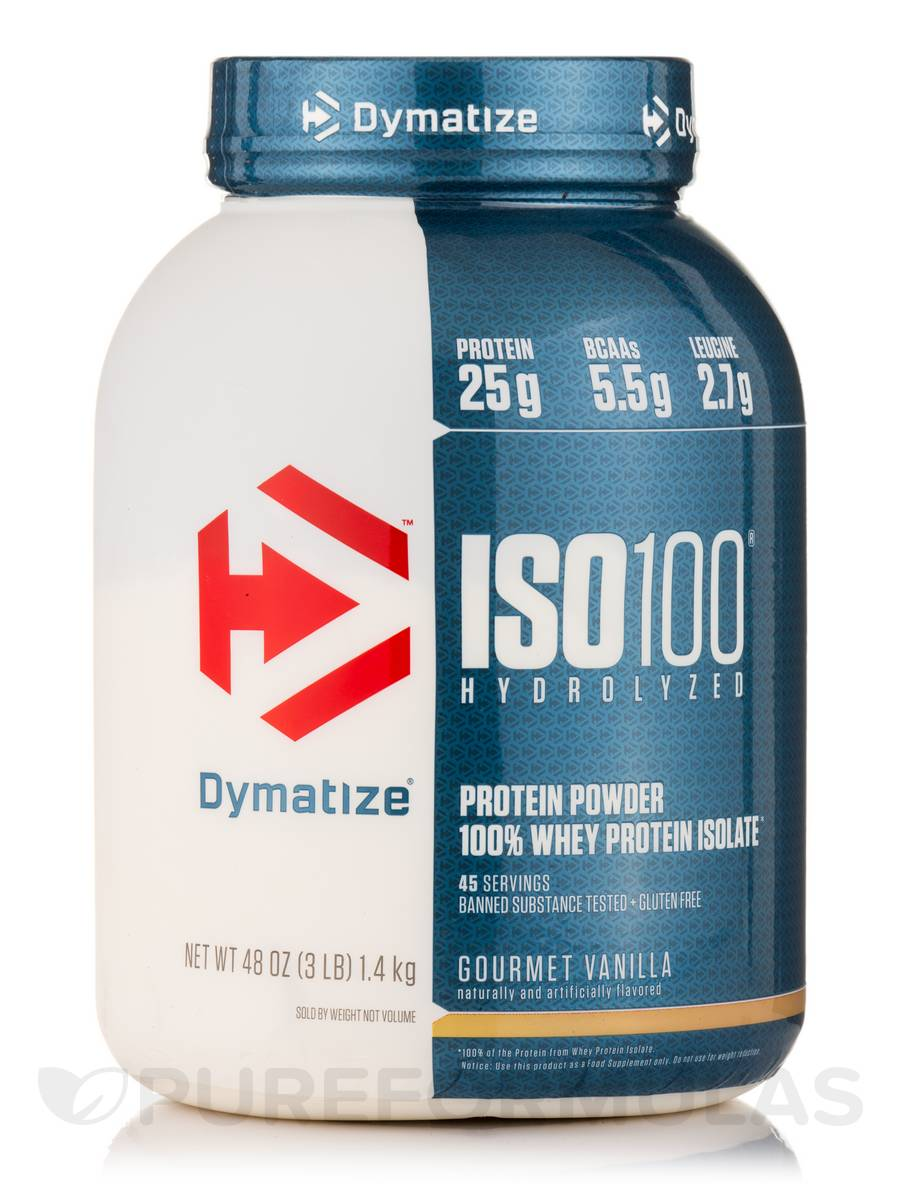 ISO-100 Hydrolyzed 100% Whey Protein Isolate, Gourmet Vanilla - 3 lbs (1,362 Grams)