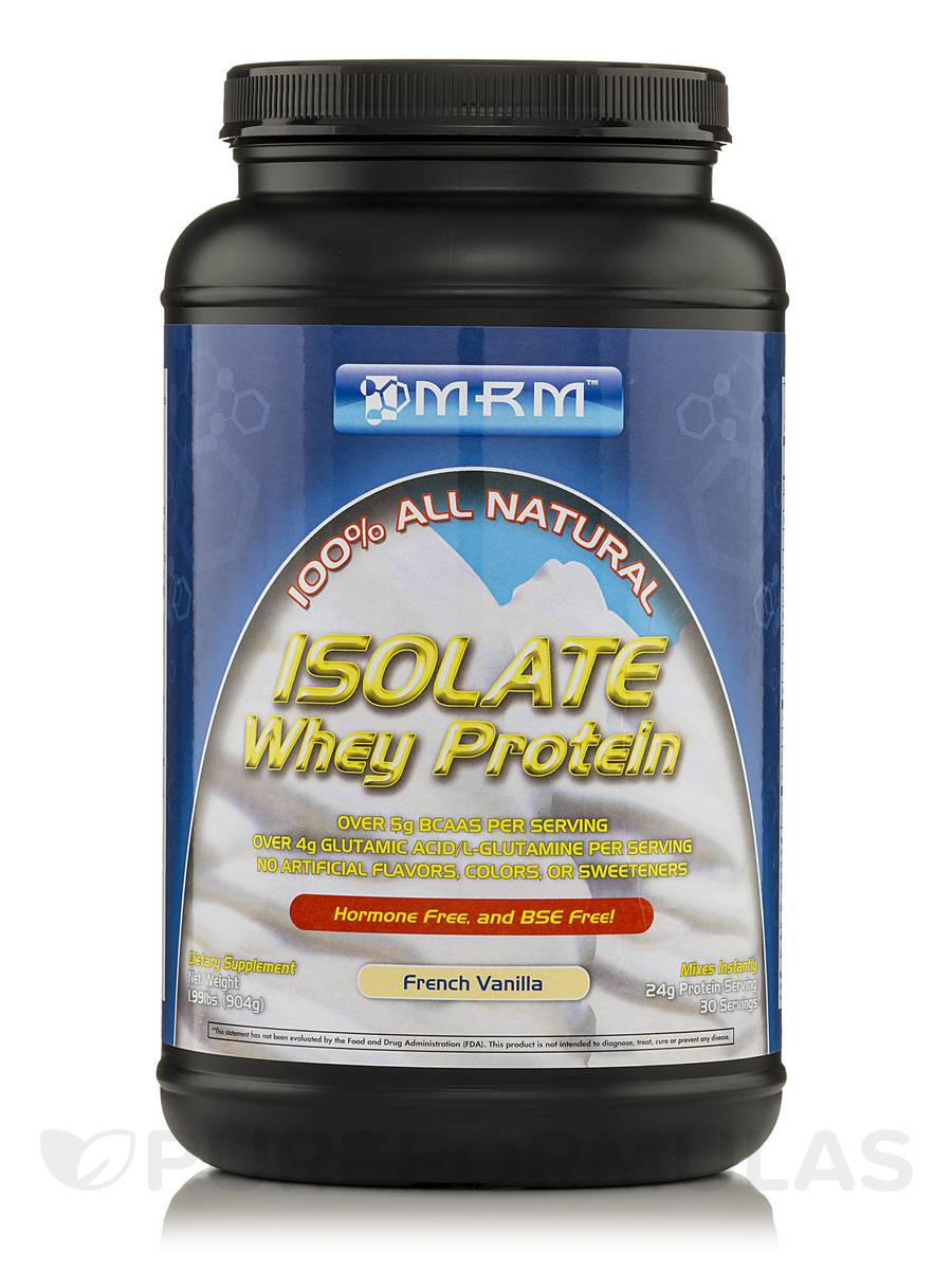 isolate whey protein french vanilla 100 all natural lbs 904 grams. Black Bedroom Furniture Sets. Home Design Ideas