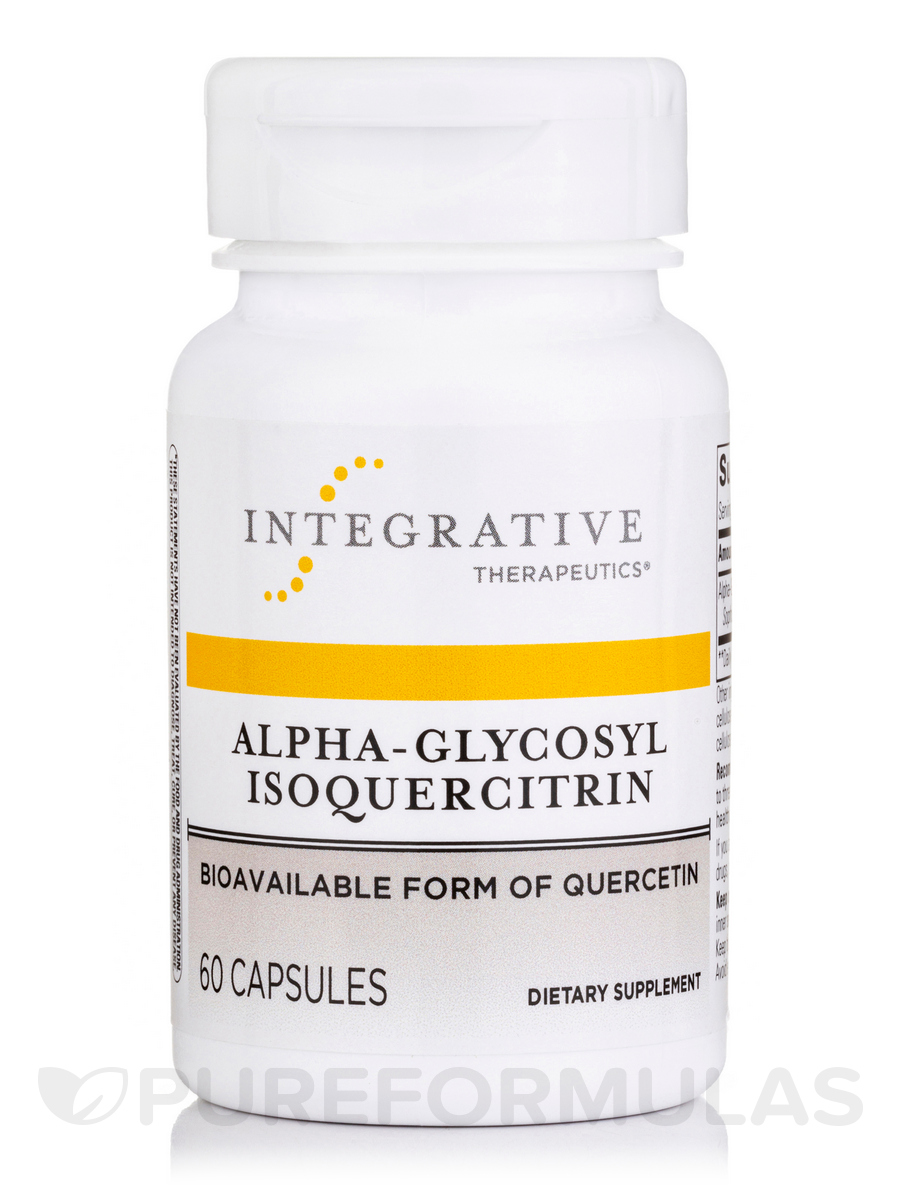 Alpha-Glycosyl Isoquercitrin - 60 Vegetable Capsules