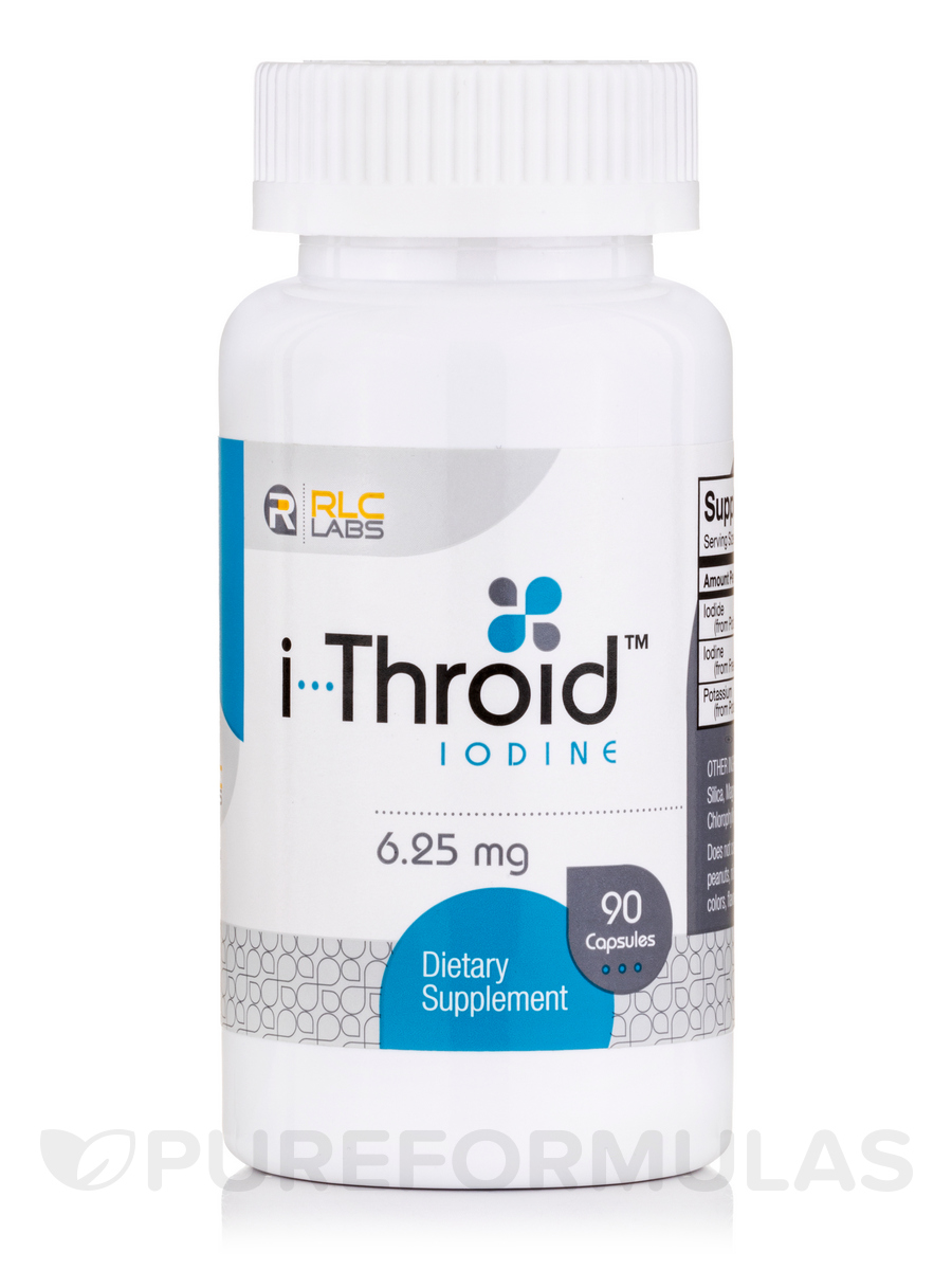 i-Throid Iodine 6.25 mg - 90 Capsules