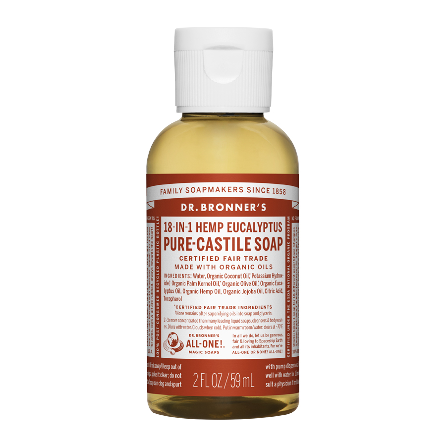 Eucalyptus Oil Pure Castile Liquid Soap - 2 fl. oz (59 ml)