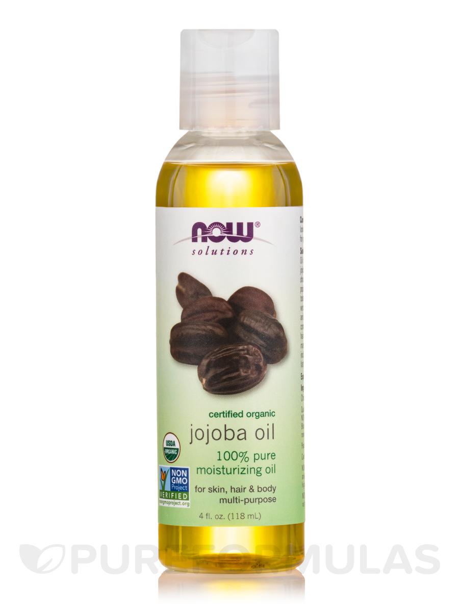 NOW® Solutions - Organic Jojoba Oil - 4 fl. oz (118 ml)