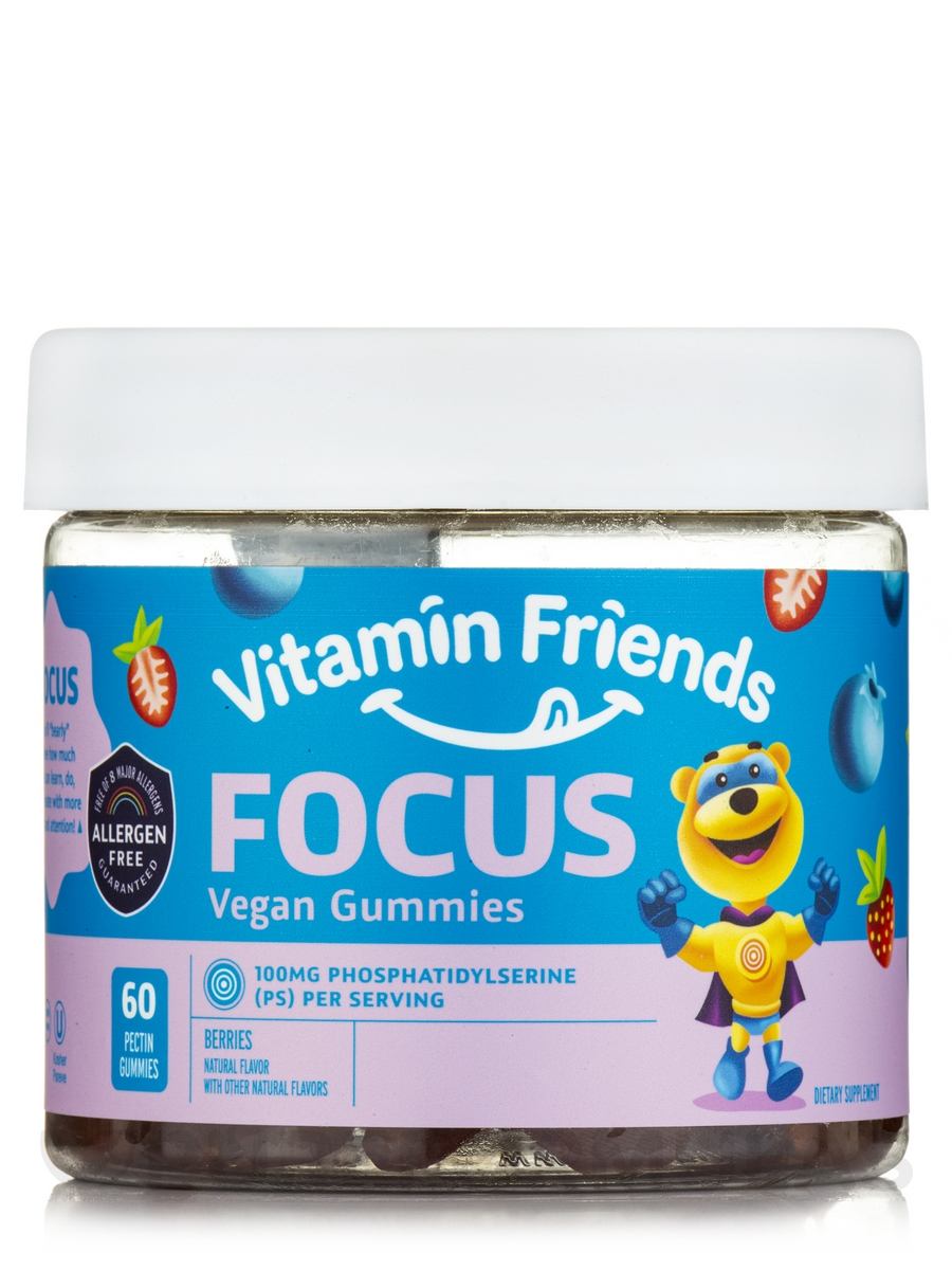 Focus Vegan Gummies, Berry Flavor - 60 Gummies