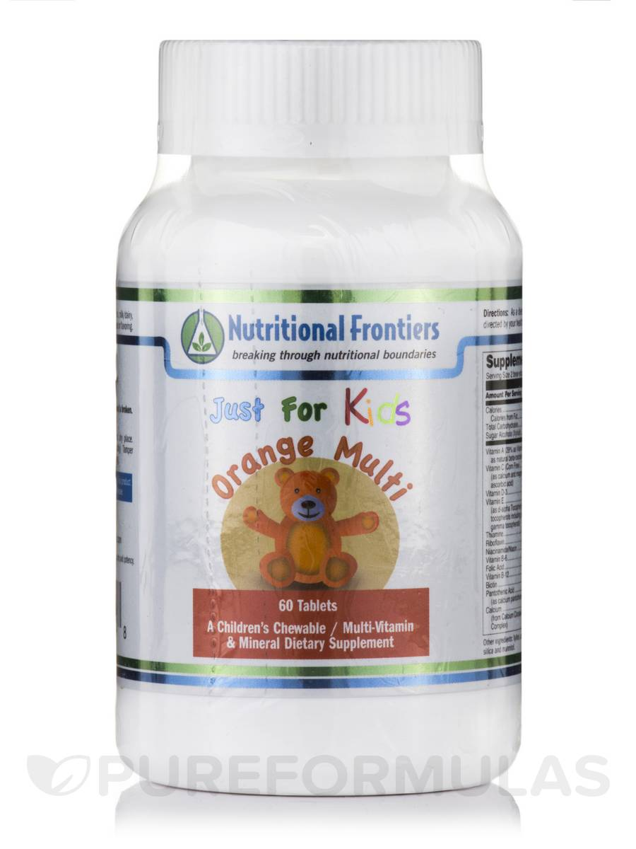 Just for Kids Multi-Vitamins & Minerals (Orange Flavor) - 60 Chewable Tablets