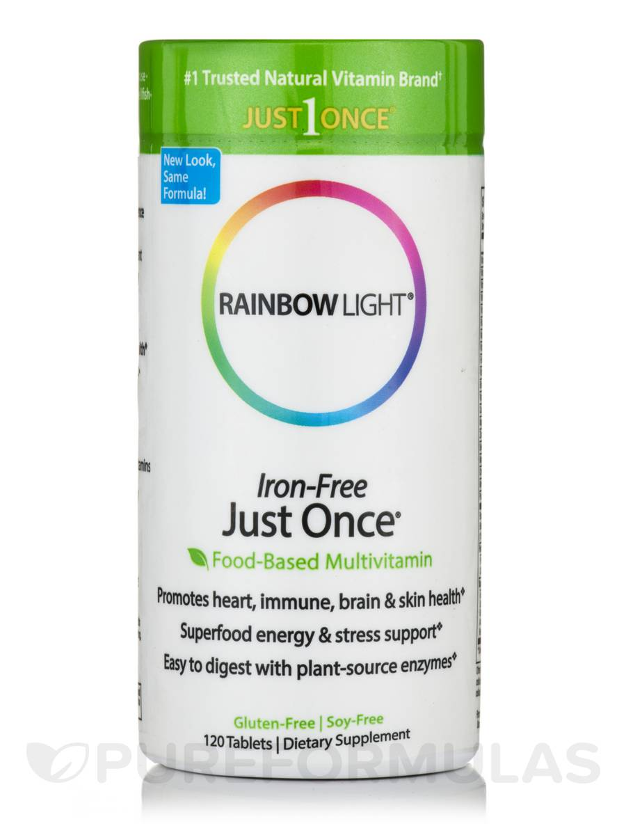 Just Once® Multivitamin Iron-Free - 120 Tablets