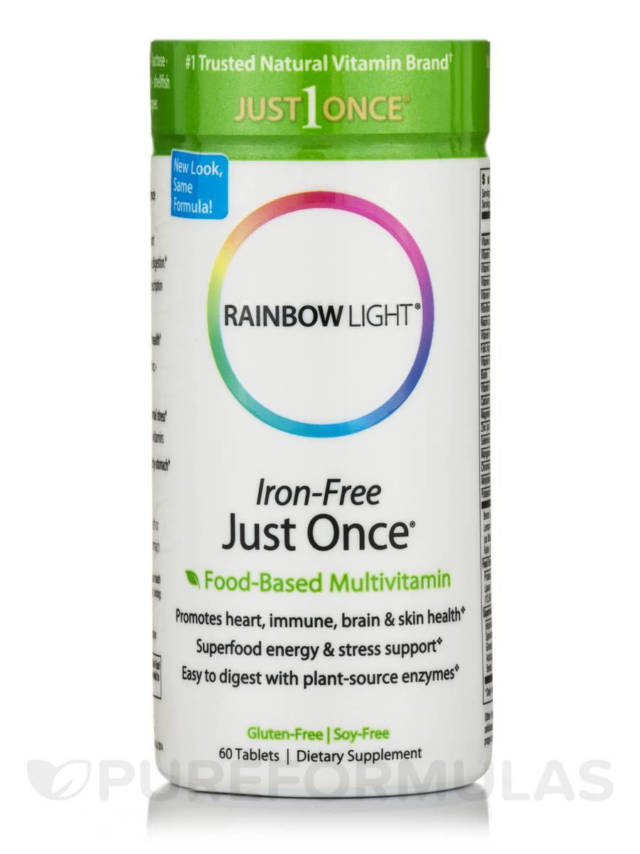 Just Once® Multivitamin Iron-Free - 60 Tablets