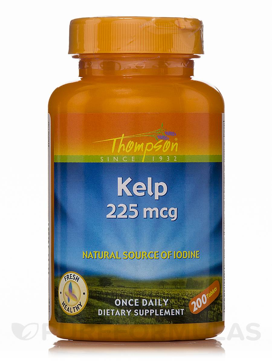 Kelp 225 mcg (Natural Source of Iodine) - 200 Tablets
