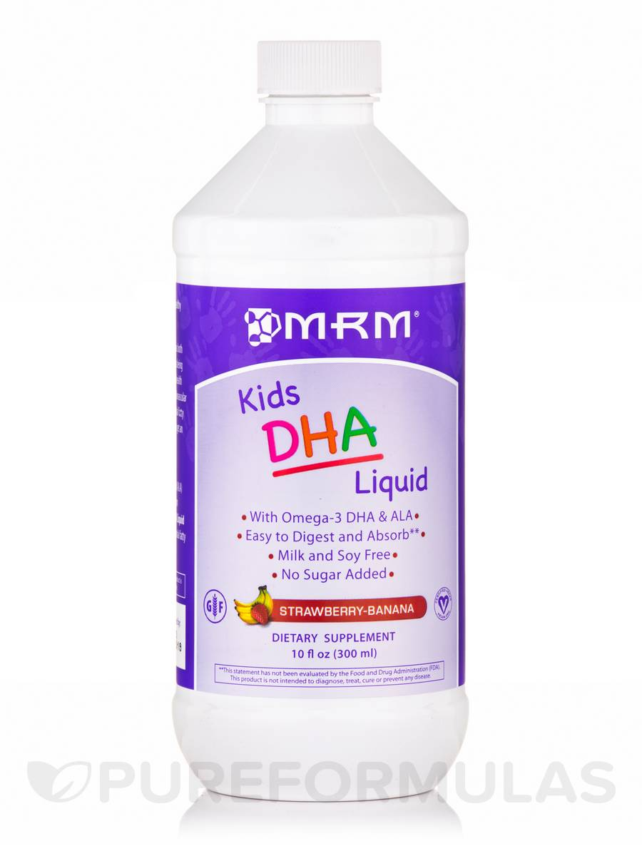 Kids DHA Liquid, Strawberry-Banana Flavor - 10 fl. oz (300 ml)