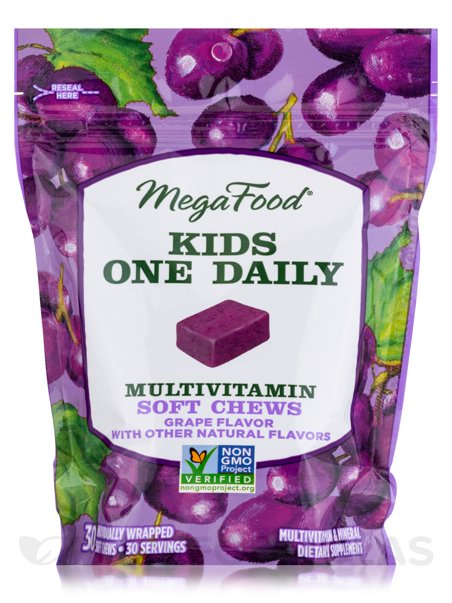 Kids One Daily Multivitamin Soft Chews, Grape with other Natural Flavors - 30 Soft Chews