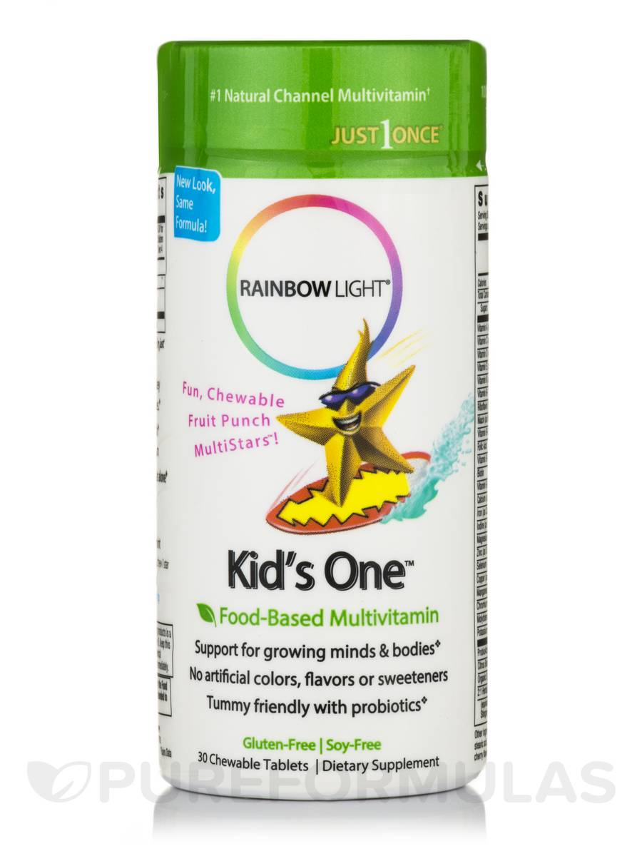 Kids' One™ Chewable Multivitamin & Minerals (Fruit Punch Flavor) - 30 Chewable Tablets