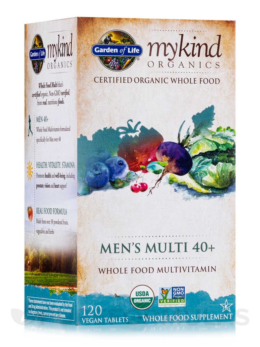mykind Organics Men's Multi 40+ - 120 Vegan Tablets
