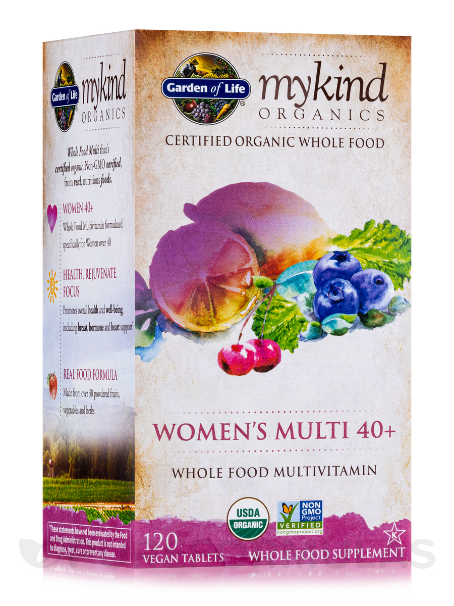 mykind Organics Women's Multi 40+ - 120 Vegan Tablets