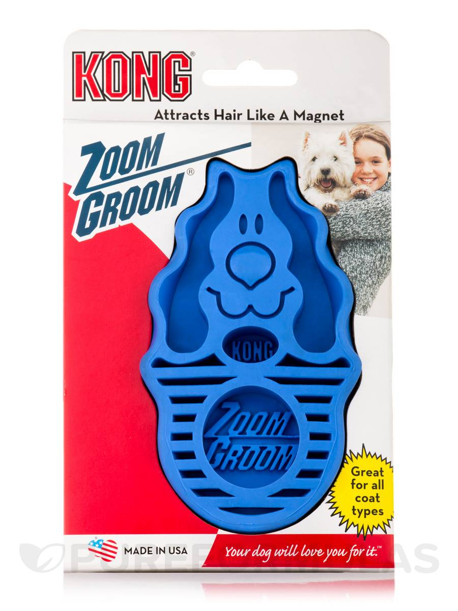KONG® Zoom Groom for Dogs - Blue Color - 1 Count