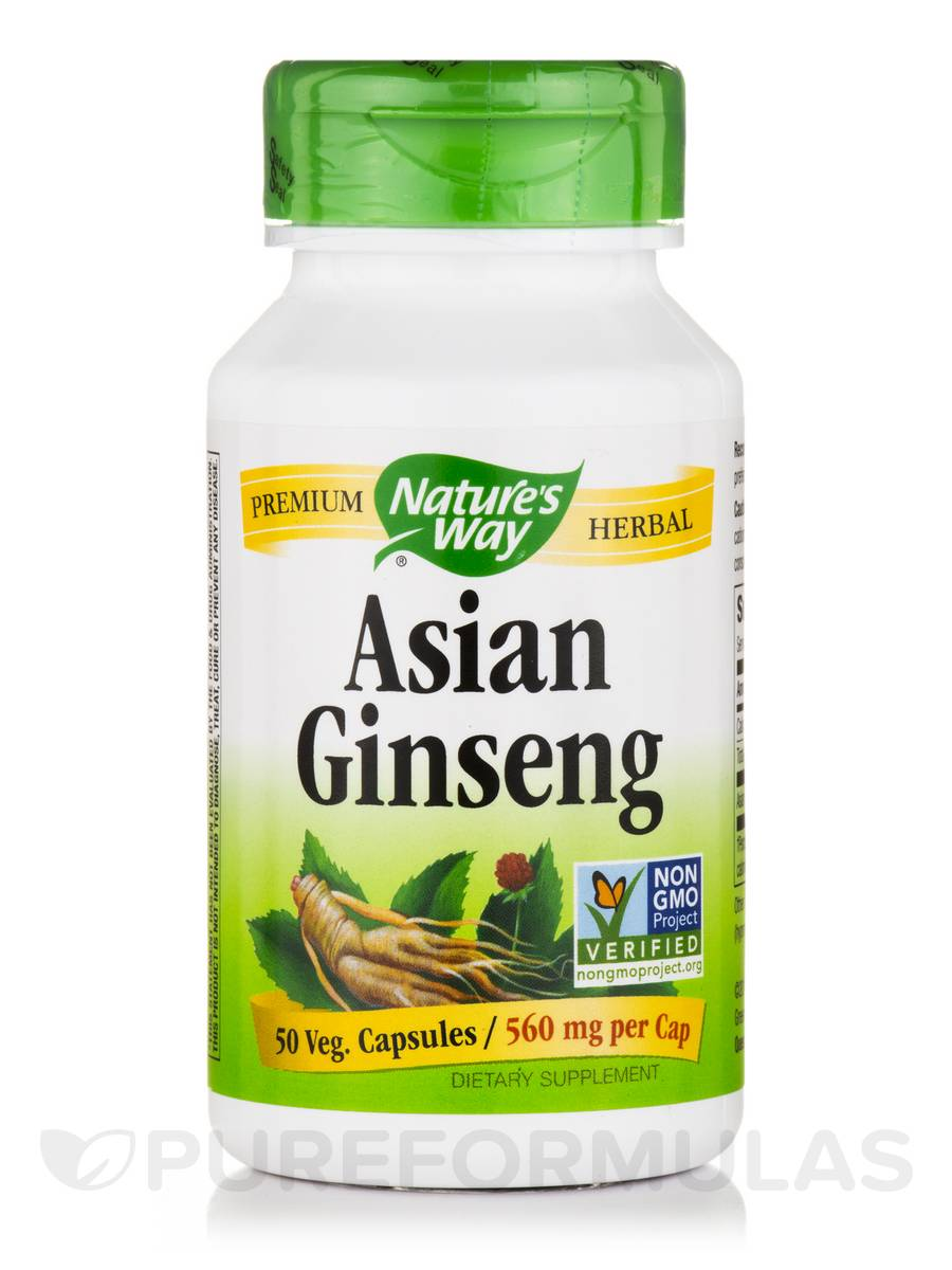 Asian Ginseng 560 mg - 50 Vegetarian Capsules