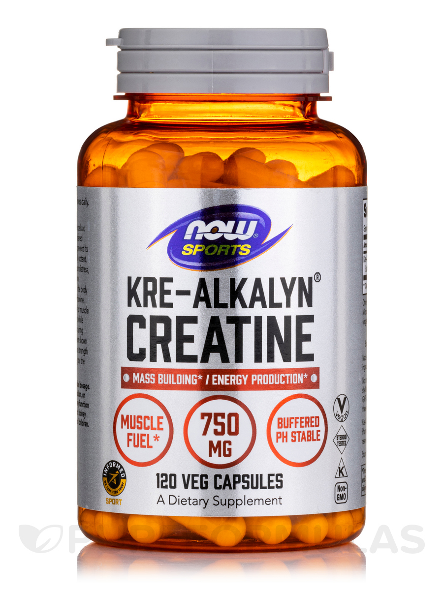 NOW® Sports - Kre-Alkalyn® Creatine - 120 Capsules
