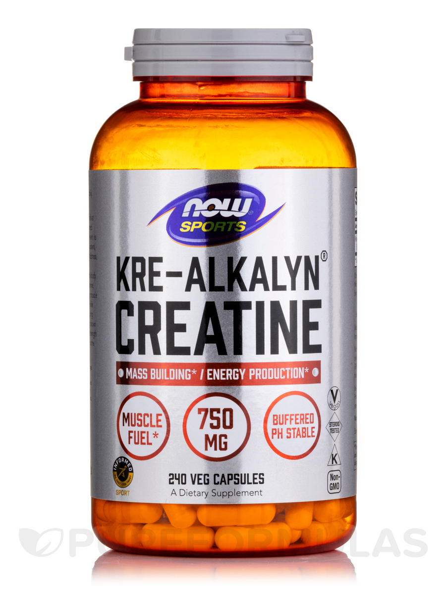 NOW® Sports - Kre-Alkalyn® Creatine - 240 Capsules