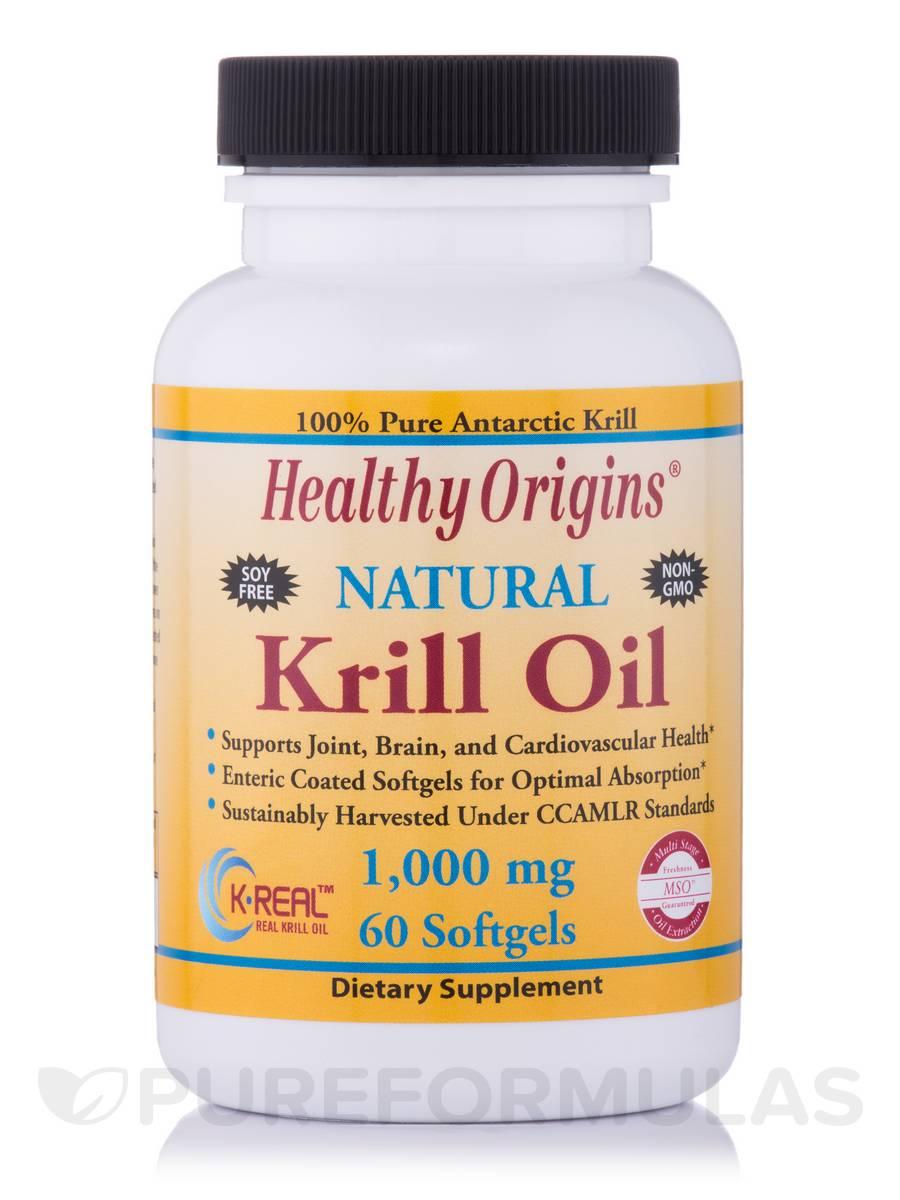 Krill Oil 1000 mg (K-Real™) - 60 Softgels