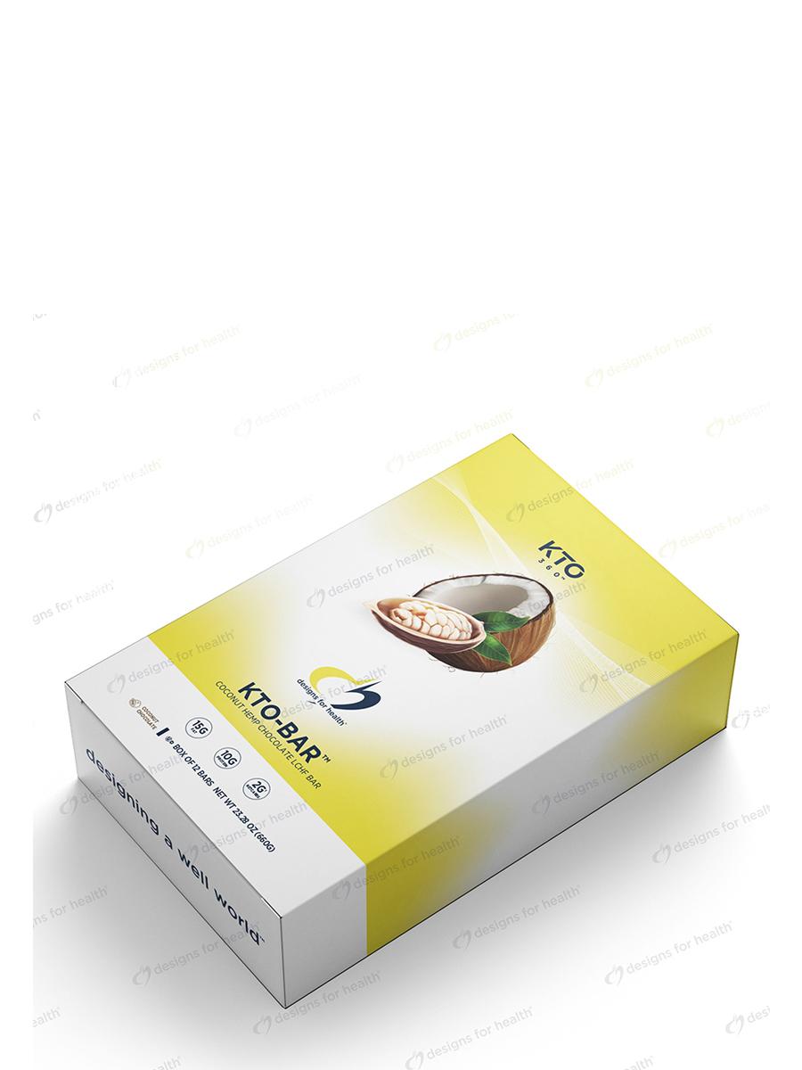 KTO-Bar™ Coconut Hemp Chocolate LCHF Bar - Box of 12 Bars
