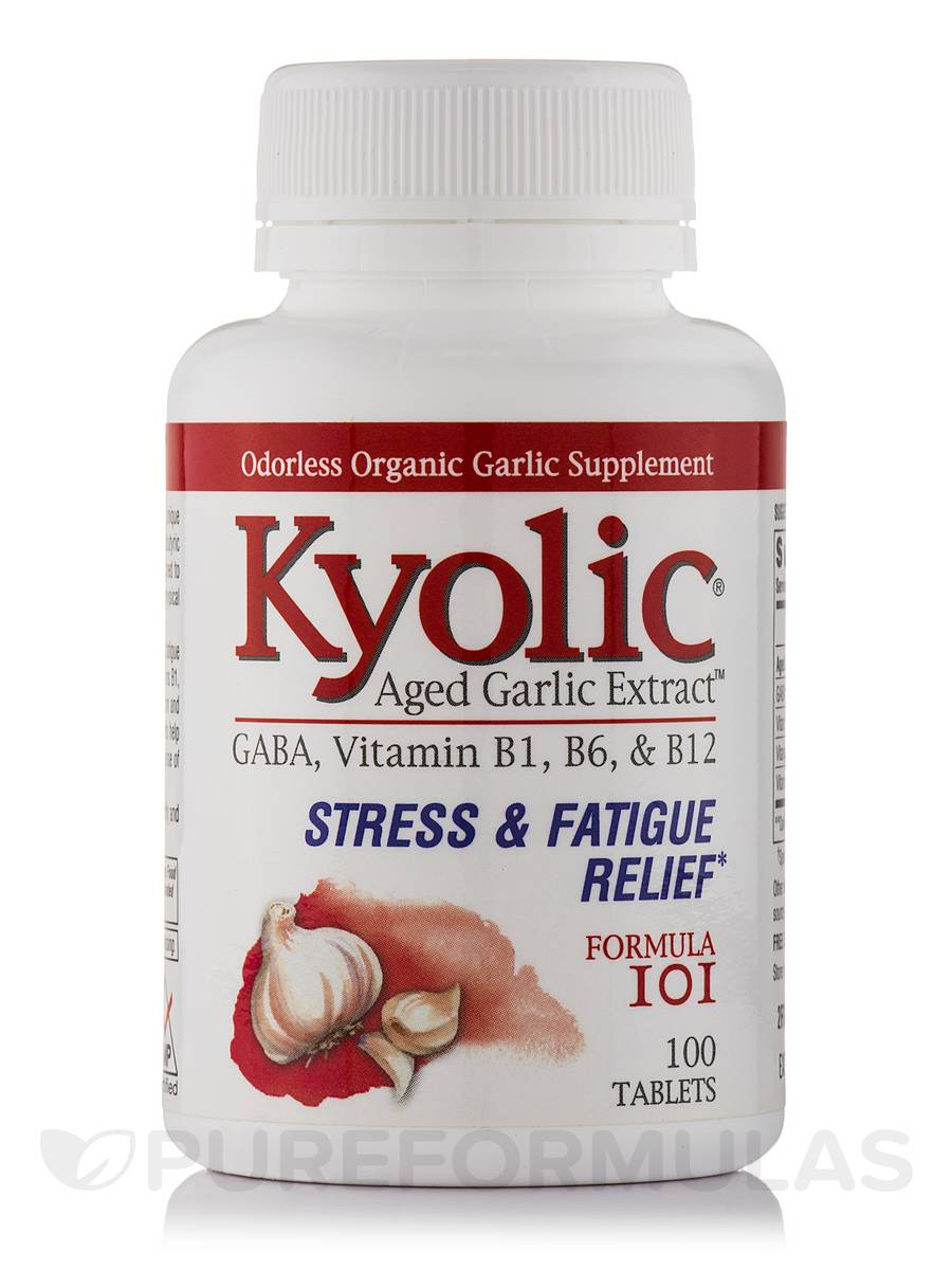 Kyolic® Aged Garlic Extract™ - Formula 101 (Stress and Fatigue Relief) - 100 Tablets