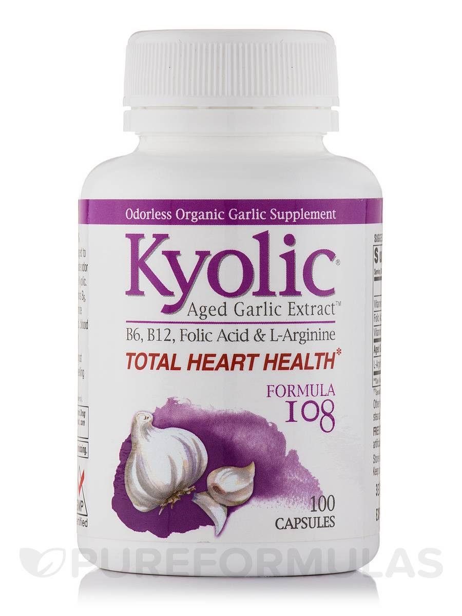 Kyolic® Aged Garlic Extract™ - Formula 108 (Total Heart Health) - 100 Capsules