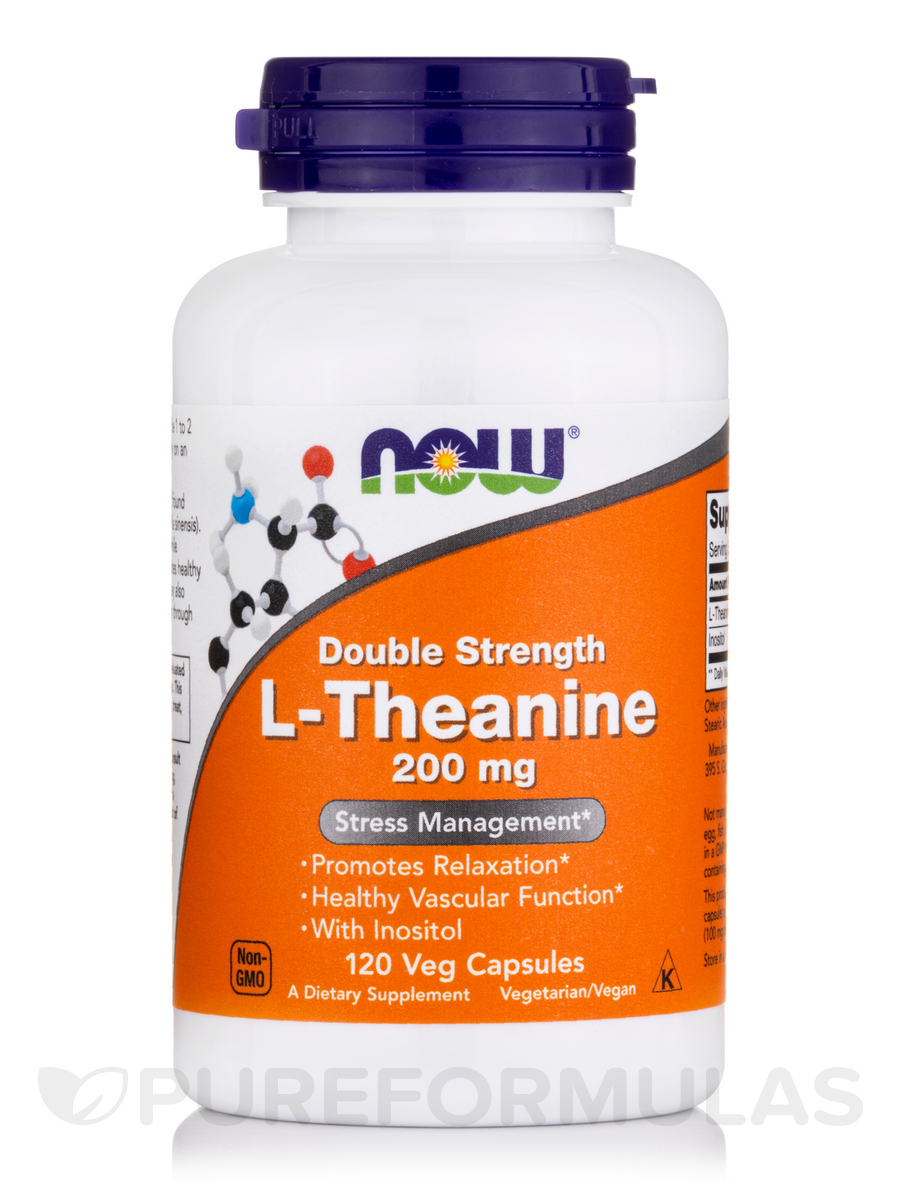 L-Theanine Double Strength 200 mg - 120 Veg Capsules