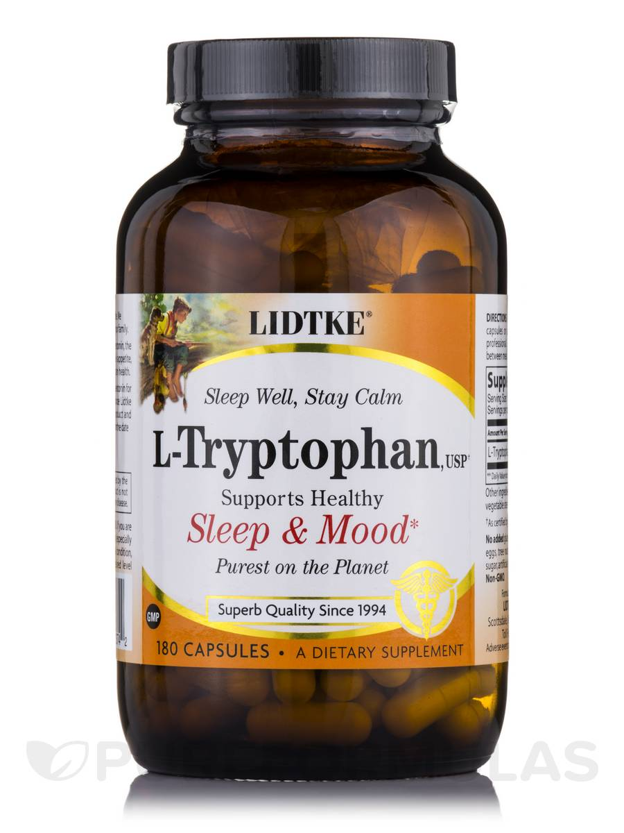 L-Tryptophan 500 mg - 180 Capsules