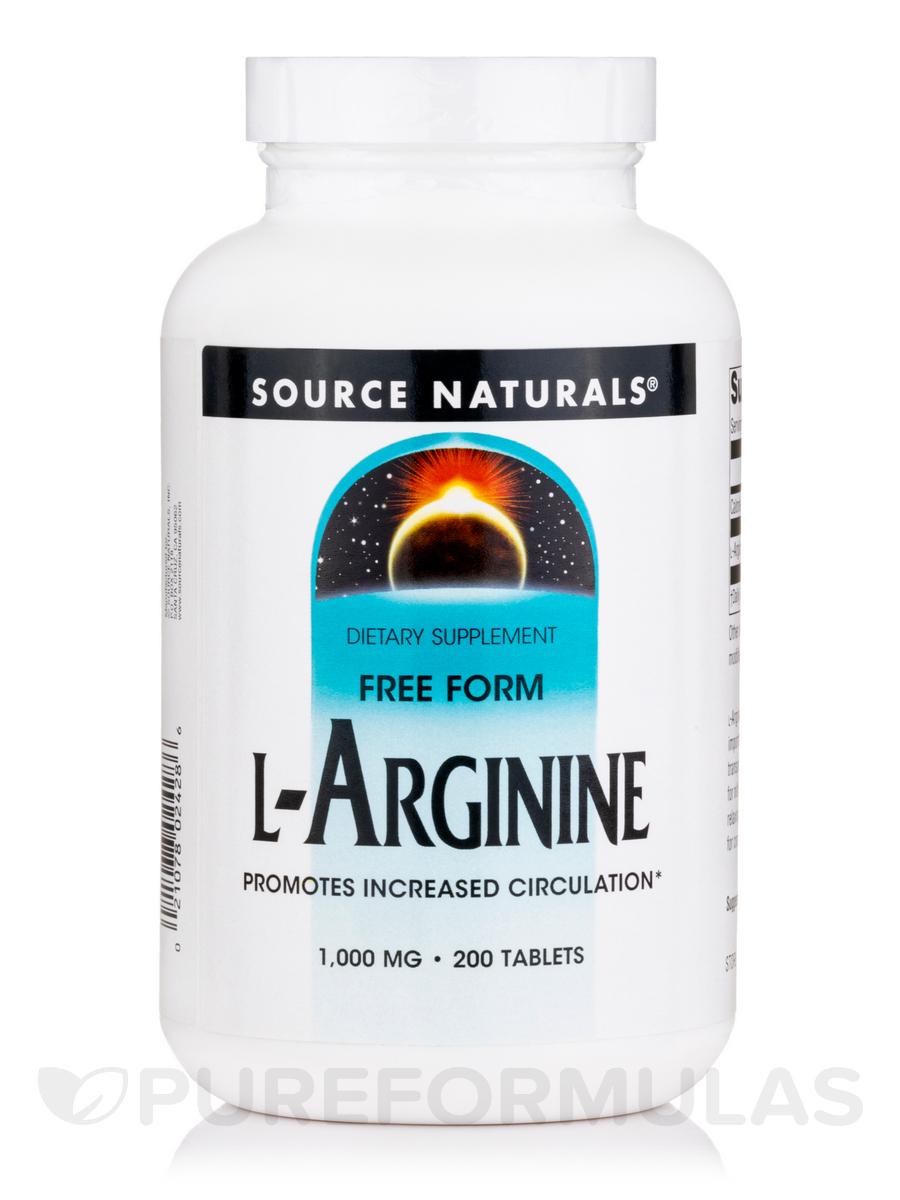 L-Arginine 1000 mg - 200 Tablets