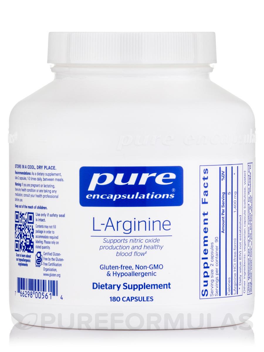 l-Arginine - 180 Capsules