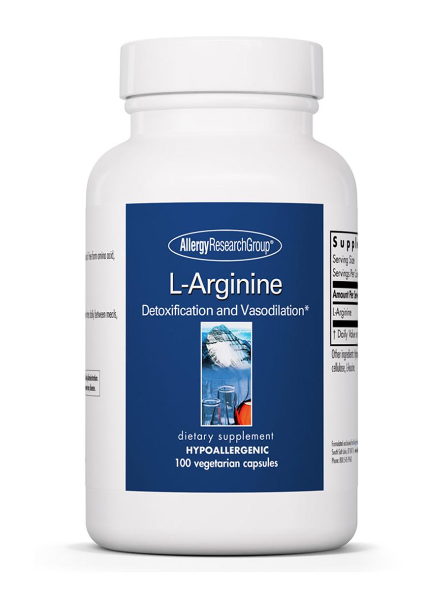 L-Arginine - 100 Vegetarian Capsules